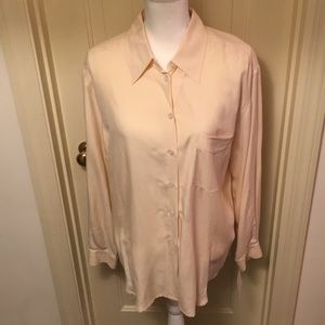 Evan Picone 100% Silk Shirt NWT